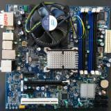 Placa de baza Intel DG45ID + procesor Intel Q9550 2.83GHz + cooler, Pentru INTEL, LGA775, DDR2, Contine procesor, ATX