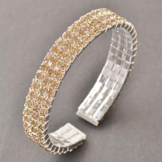 Bratara placate cu aur - Bratara placata cu aur 14K; marime reglabila, 1.2 cm latime