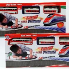 Trenulet de jucarie - Trenulet electric cu 2 vagoane si baterii