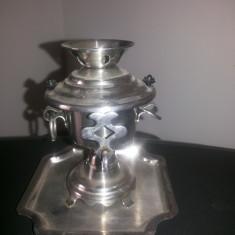 Metal/Fonta - Samovar miniatural, vechi, decorativ din inox