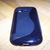 Husa silicon S-case neagra pentru telefon Samsung Galaxy Chat B5330