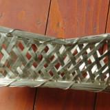 Vintage - fructiera / cos impletit din metal model deosebit !!!