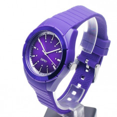 Ceas de dama ESPRIT Play Solid Purple - NOU !!! - Ceas dama Esprit, Lux - sport, Quartz, Cauciuc, 30 m / 100 ft / 3 ATM