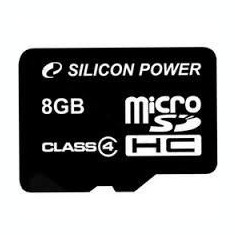SILICON POWER MICRO SDHC 8GB CL10 WITHOUT ADAPTER