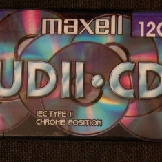 Casetofon - Caseta Maxell UD II CD Chrom 120 minute sigilata