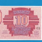 Letonia 10 ruble 1992 UNC - bancnota europa