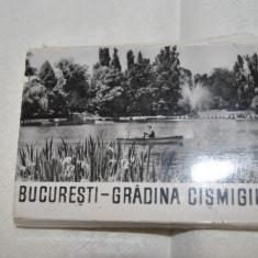Carte Postala Muntenia dupa 1918, Bucuresti, Necirculata, Fotografie - BUCURESTI GRADINA CISMIGIU _ 10 MINIVEDERI DIN 1960 albnegru