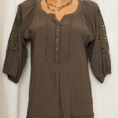 Bluza dama, Maneca scurta - Bluza oliv tip ie LOUISE OROP, marimea M/L