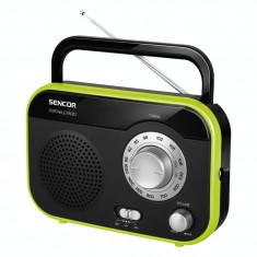 Sencor Aparat radio SRD210BGN, portabil, 1W RMS, negru/ verde