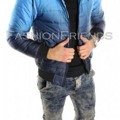 Geaca tip ZARA albastra degrade - Geaca slim fit - Geaca barbati 5613