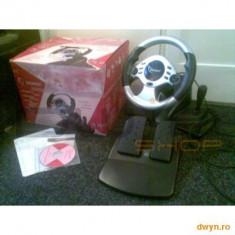 Accesoriu Consola - GEMBIRD Volan + pedale Gembird Shockforce, USB, Dual vibration, 180 degree free rotation, Digital/Analog, Ad