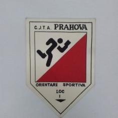 FANION C.J.T.A PRAHOVA ORIENTARE SPORTIVĂ LOC. I-ANII 1980 - Fanion atletism