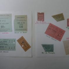 LOT DE 10 BILETE DE INTRARE LA MARI MUZEE SI INSTITUTII DE CULTURA FRANTA - 1967