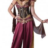 E319 Costum Halloween oriental cu banuti - Costum dans, Marime: S/M