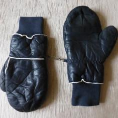 Manusi din piele naturala, captusite; marime XL; stare foarte buna - Manusi Barbati, Culoare: Din imagine
