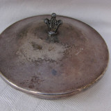 Frumoasa cutie din alama argintata, marcata Prima NS, perioada anilor 1940