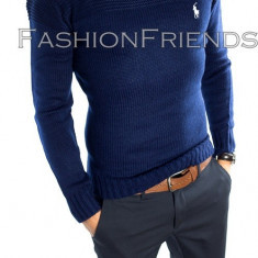 Pulover POLO RALPH LAUREN bleumarin - pulover barbati - cod produs: 5229, Marime: L, Culoare: Din imagine