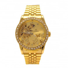 Ceas dama Automatic GOER Butterfly Gold Edition CEL MAI MIC PRET Grantat