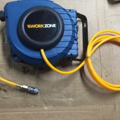 Compresor Service - Rola furtun compresoare automata WorkZone 10m Aproape Nou