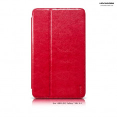 Husa tableta piele fina HOCO, SAMSUNG GALAXY TAB 4 8.0, smart cover, pe ROSU, 8 inch
