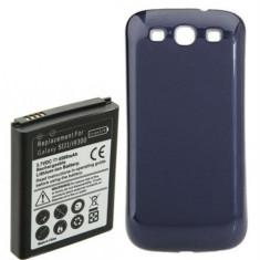 Baterie extinsa 4500mAh capac albastru special Samsung Galaxy S3 i9300 + folie - Baterie externa
