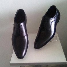 Pantofi barbati, Piele naturala - PANTOFI BARBATESTI TIP ZARA ELEGANTI DIN PIELE NATURALA