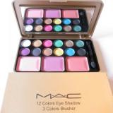 Trusa Machiaj Profesionala MAC 12 culori pt. ochi si 3 pt obraz - Model 1 - Trusa make up