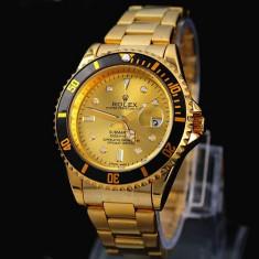 Ceas Barbatesc Rolex, Elegant, Analog, Placat cu aur - CEAS ROLEX SUBMARINER GOLD EDITION-SUPERB-PRET IMBATABIL-CALITATEA 1-POZE REALE
