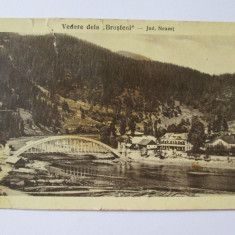 Carte Postala, Circulata, Printata - RARA! C.P. BROSTENI JUDETUL NEAMT(ACTUALMENTE JUD.SUCEAVA) ANII 30