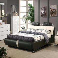 Pat dormitor - Paturi cu piele naturala AH905