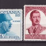1940 - Carol II - 10 ani de domnie, serie nestampilata