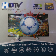 Telecomanda Receiver Satelit - Receptor receiver de înaltă definiție digital terestru 1080P i DVB-T2 HDTV 3D