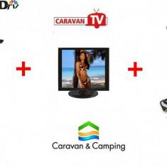Antena tv cu Televizor pentru, camping/rulota cu trepied