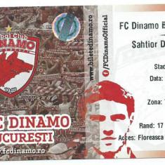 Bilet meci Dinamo Bucuresti - Sahtior Donetk / 2013