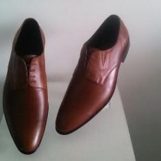 Pantofi barbati, Piele naturala - PANTOFI BARBATESTI ELEGANTI TIP ZARA DIN PIELE NATURALA