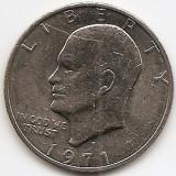 "Statele Unite (SUA) 1 Dolar 1971 - ""Eisenhower Dollar"", 38.1 mm, KM-203 (3), America de Nord, An: 1971"