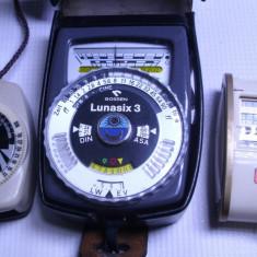 Accesoriu foto - Exponometru luxmetru rar german Lunasix 3 profesional pt aparat foto vechi