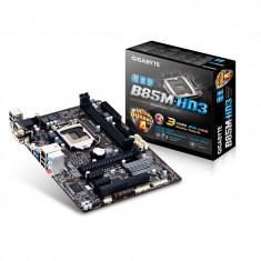 Placa de baza skt.1150 GIGABYTE B85M-HD3, 2xDDR3, chipset B85, audio 7.1, Pentru INTEL, LGA 1150, MicroATX