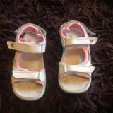 Sandale, sandalute pentru fetite, marimea 27-28, piele naturala, scai, reglabile