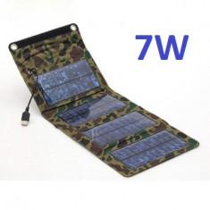 Panouri solare - Panou Solar 7W, Pliabil / Portabil, Incarcator Acumulatori, Power Bank, Telefon