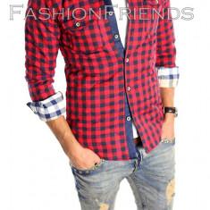 Camasa tip Zara bumbac - stil jacheta - camasa barbati - cod produs: 5413
