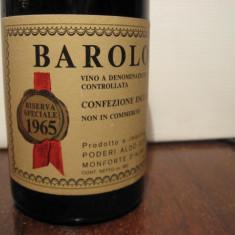 Barolo riserva speciale, doc, recoltare 1965 cc 360 gr.13, 5 -sticla esclusiva - Vinde Colectie, Aroma: Sec, Sortiment: Rosu, Zona: Europa