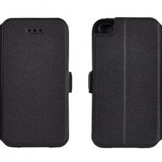 Husa Alcatel One Touch Pop C7 OT-4071D Flip Case Inchidere Magnetica Black - Husa Telefon Alcatel, Negru, Piele Ecologica, Cu clapeta, Toc