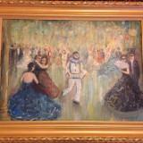 "NICOLAE FURDUESCU (1908-1954), ""Bal mascat"", ulei pe carton, 85x67 cm - Pictor roman, Scene gen, Impresionism"