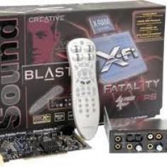 Placa de sunet PC Creative, PCI - Placa de sunet profesionala Creative 7.1 X-Fi Platinum Fatal1ty FPS