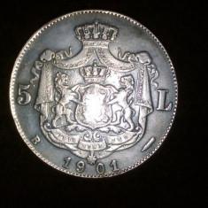 Monede Romania, An: 1901, Alama - 5 lei 1901 replica