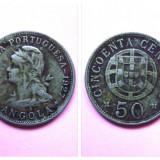 ANGOLA 50 CENTAVOS 1927KM# 69, Africa