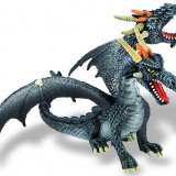 Dragon Negru Cu 2 Capete - Figurina Animale Bullyland