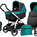 Carucior 3 In1 Book Plus S Black&White Pop-Up - Carucior copii 3 in 1 Peg Perego