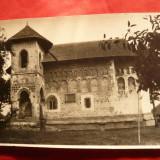 Fotografie interbelica - Biserica Sf.Nicolae din Balinesti jud.Suceava